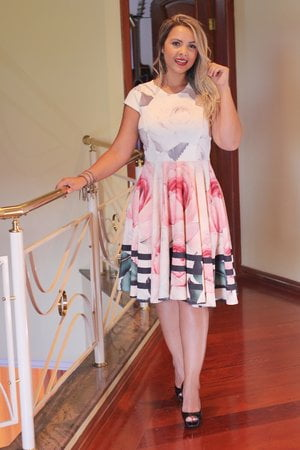 Vestido Godê Ariane