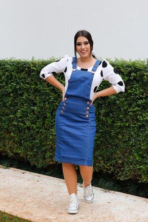 Jardineira Jeans Nicole