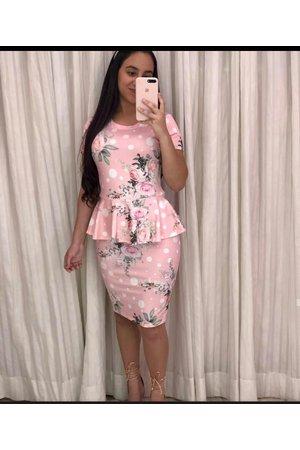 Vestido Tubinho Poá Rosa