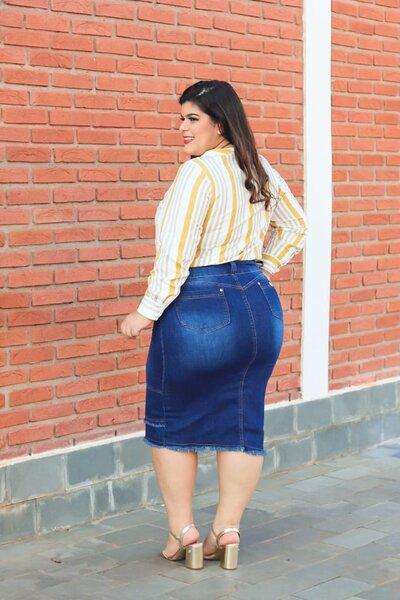 Saia Jeans Plus Monique