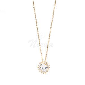 Colar Sol White Ouro M