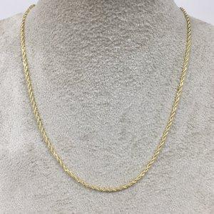 Corrente Corda Italiana Ouro - 50 cm e 70 cm