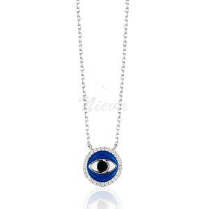 Colar Olho Grego Azul Prata 925