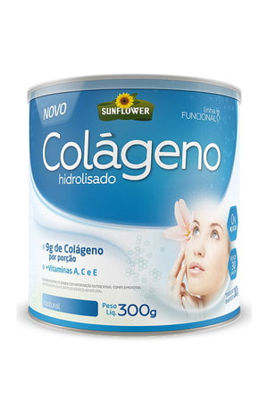 Colágeno Hidrolisado - 300g - Natural - Sunflower