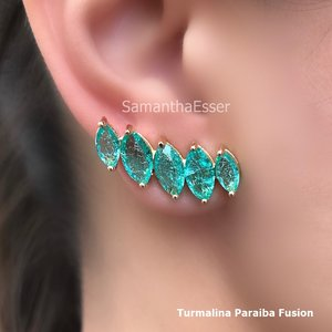 Ear Cuff 5 Navetes - OURO 18K