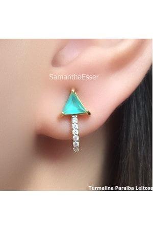 Brinco Ear Hook Triângulo - OURO 18K