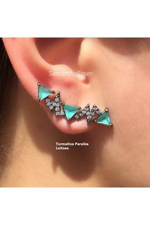 Brinco Ear Cuff 3 Triângulos - RÓDIO NEGRO
