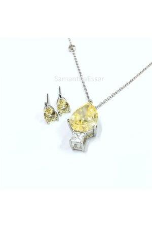 Conjunto Yellow Fancy Gota com Cristal - RÓDIO