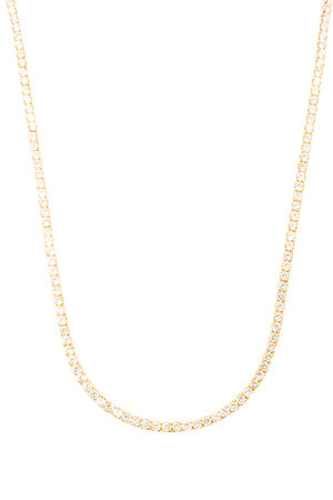 Colar Riviera Dourada gr- 70cm semijoia