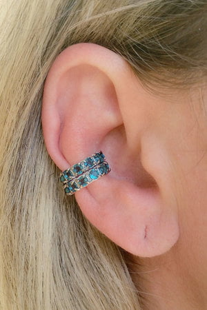 Falso Piercing azul London Rodio
