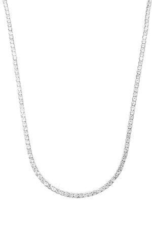 Colar Riviera Cristal gr- 70cm semijoia