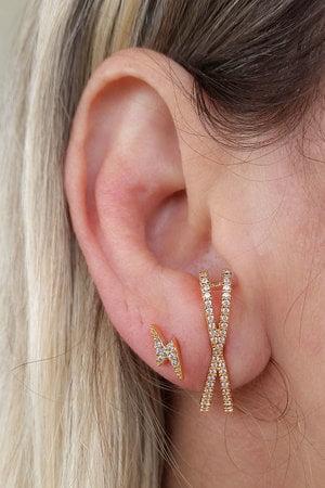Brinco Ear Hook X Ouro