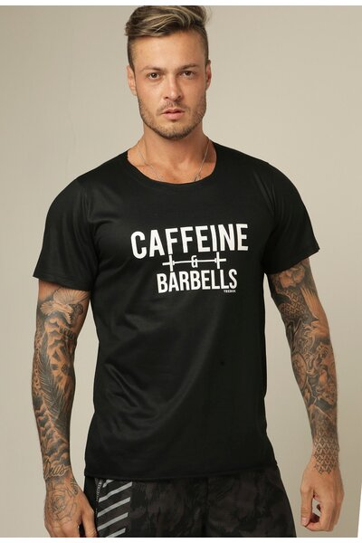 Camiseta masculina Teebox CAFFEINE AND BARBELLS