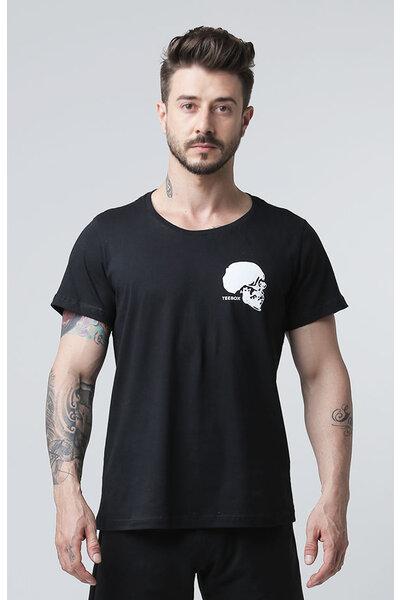 Camiseta masculina teebox SKULL CROSS preta