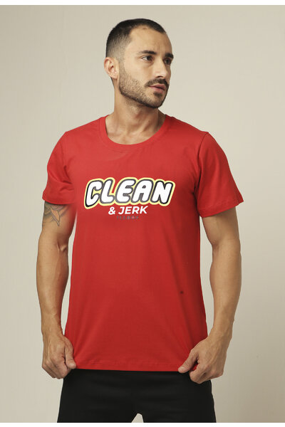 Camiseta masculina Teebox CLEAN e JERK TOY