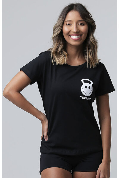 Camiseta Babylook Teebox HAPPY TRAINING Feminina