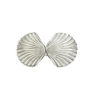 Bracelete Conchas Duplo Prata