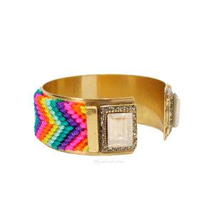 Bracelete Noronha Hippie Summer Cristal Gold