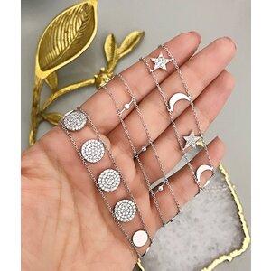 Choker Prata 925 Glam Circles