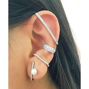 Piercing Ear Hook Prata (Unitário)