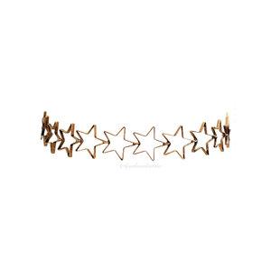 Choker New Estrelas Vazadas - Ouro