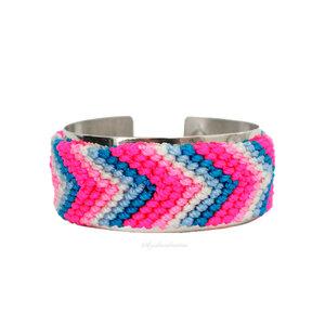 Bracelete Noronha Hippie Summer Cristal Silver