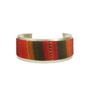 Bracelete Peruano Largo Vermelha e Laranja