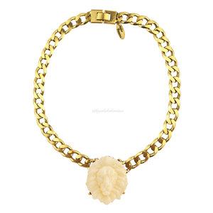 Gargantilha Chain Gold Leão Marfim (Curto)