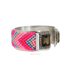 Bracelete Noronha Hippie Summer Cristal Silver II