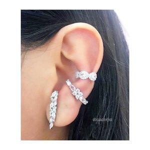 Piercing Ear Hook Delicado Pedras Morganitas