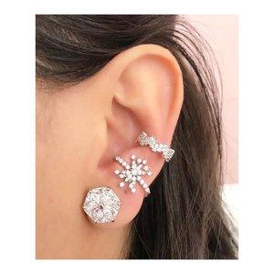 Piercing Ear Hook Estrela Prata 925 (Unitário)