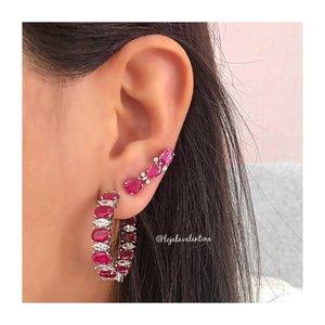 Brinco Ear Cuff 3 Gotas Rubi Fusion