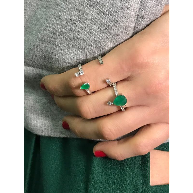 LOOK Anéis Esmeralda