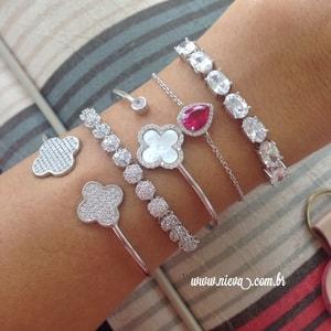 Bracelete Van Cleef Inspired Pérola