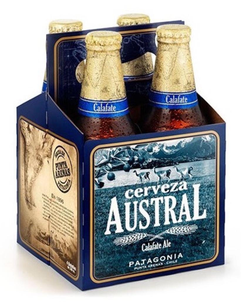 4x Cerveza Austral Calafate en Botellas 330cc