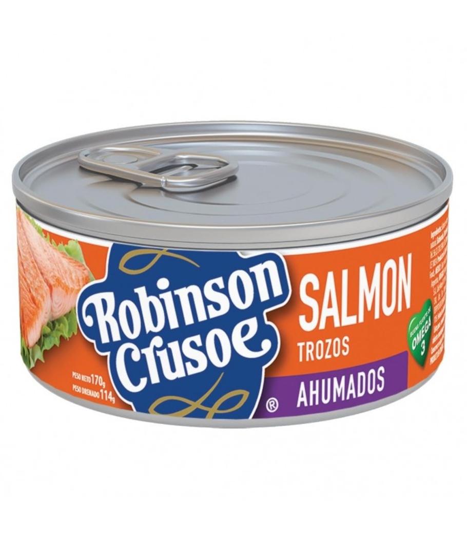 Salmón Trozos Ahumados Robinson Crusoe 170 gramos