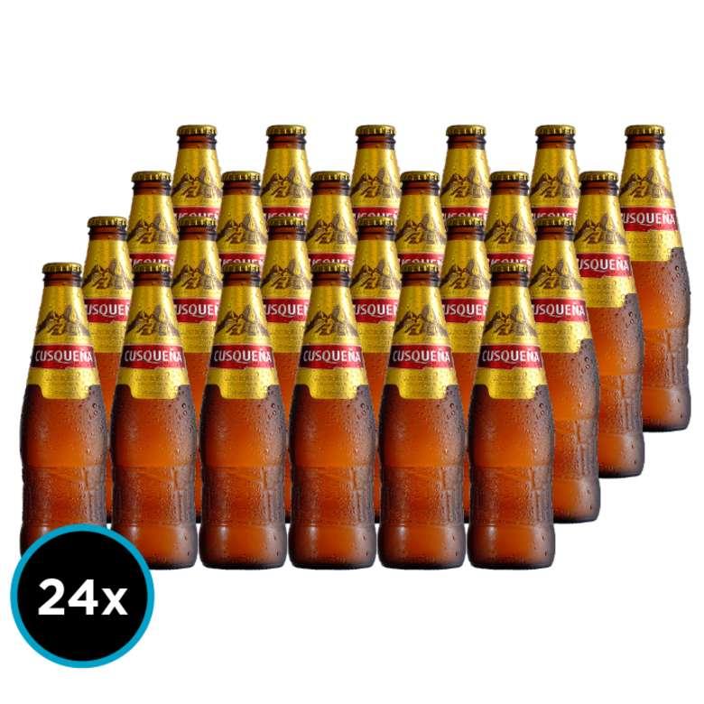 24x Cerveza Cusqueña en Botellas 330cc