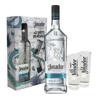 PACK JIMADOR: Tequila Jimador Blanco 750cc + 2 Vasos Shots