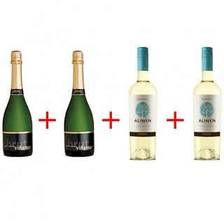 2x Viña Mar Charmat Brut + 2x Undurraga Aliwen Sauvignon Blanc
