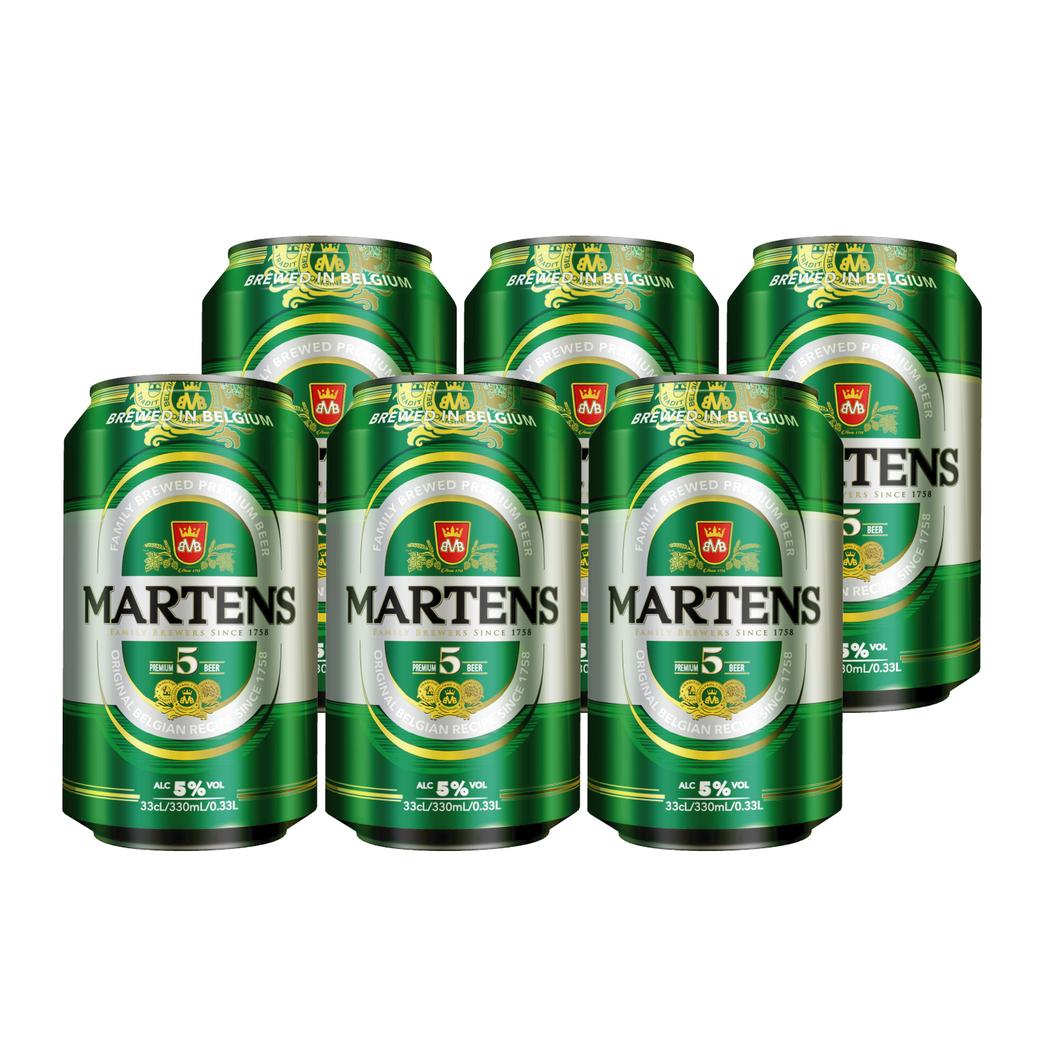 6x Cerveza Martens Pilsener en Latas 330cc 5º alc.