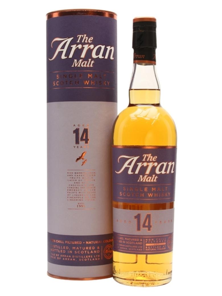 Whisky Arran Single Malt 14 Años 700cc 46º alc.