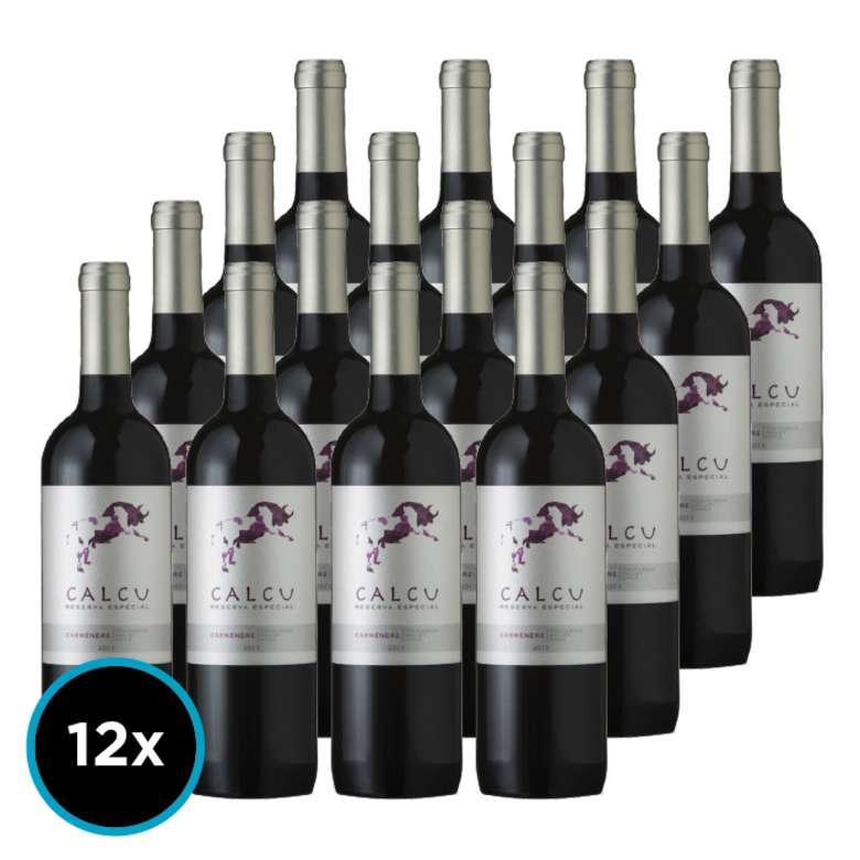 CAJA CALCU RESERVA (Carmenere): 12x Vino Calcu Reserva Carmenere 750cc