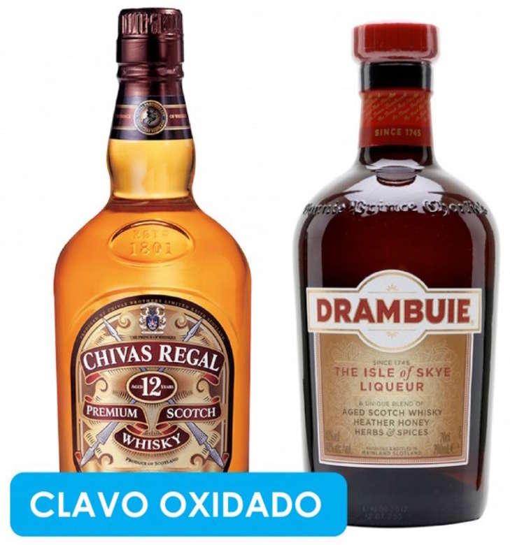 CLAVO OXIDADO: Chivas Regal 12 años 750cc + Drambuie 750cc