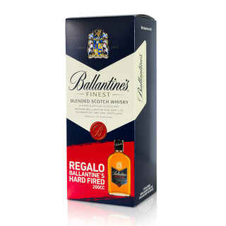 Whisky Ballantines Finest 750cc + Petaca Ballantines Hard Fired 200cc