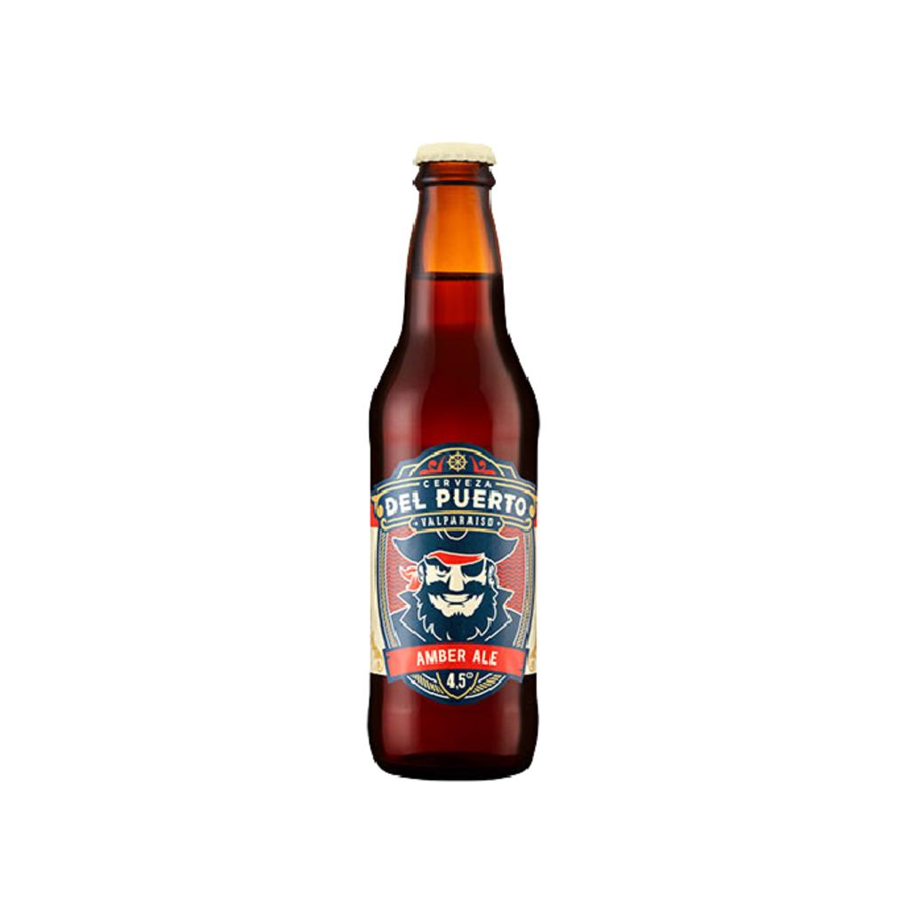 Cerveza Del Puerto Amber Ale en Botella 330cc