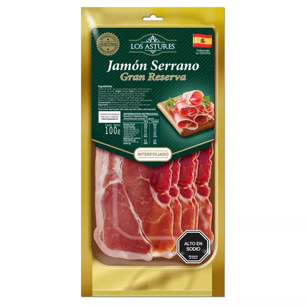 Jamón Serrano Gran Reserva Los Astures 100 gramos