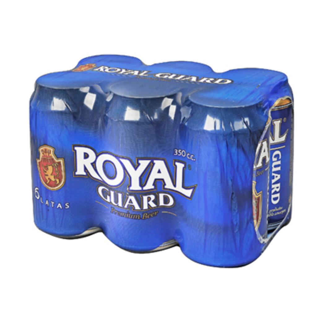 6x Cerveza Royal Guard en Latas 350cc