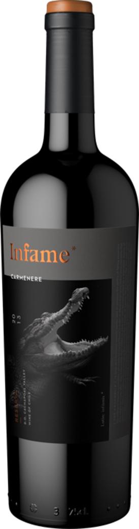 Vino Infame Reserva Carmenere - El Cocodrilo 750cc