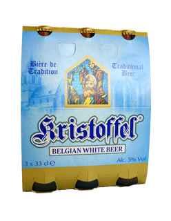 3x Cerveza Kristoffel Belgian White en Botellas 330cc