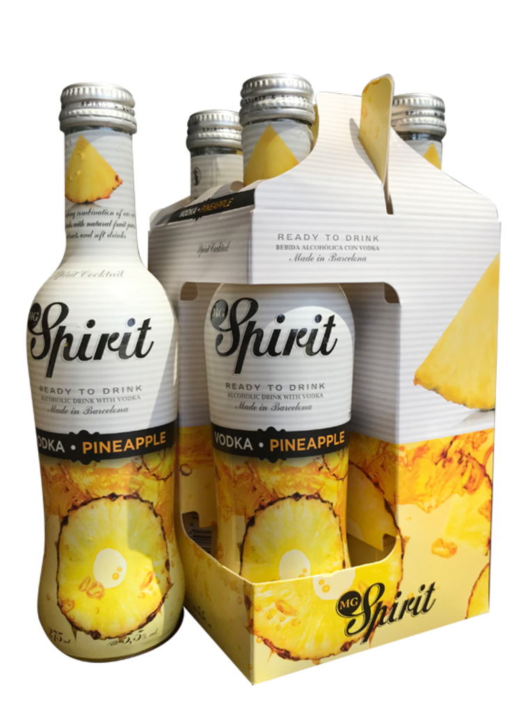 4x Spirit Vodka Pineapple 5.5º grados, 275cc